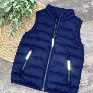 Hanna Anderson blue puffy vest NWOT size 110 or 5